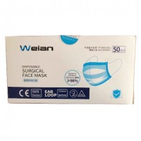 Disposable surgical face mask, type IIR