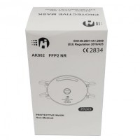 Protective mask FFP2 with valve (cup type)