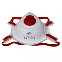 Protective mask FFP3 with valve (cup type)